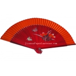 "9"" Drawing Butterflies and Flowers Fans w/ Orange Around"