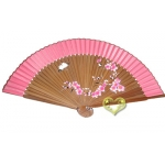"9"" Drawing Cherry Fans w/ Pink Around"