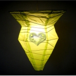 Light Lime Polygon paper Lanterns