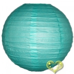 16 Inch Even Ribbing Tiffany Blue Paper Lanterns