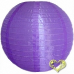 "16"" Even Ribbing Purple Nylon Lantern(12 pieces)"