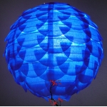 "14"" Dark Blue Pine Cone Paper Flower lanterns"