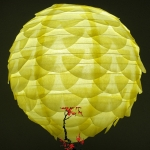 "14"" Light Yellow Pine Cone Paper Flower lanterns"