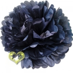 "12"" Tissue Paper Pom Poms Ball - Black(4 pieces)"