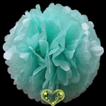 "8"" Tissue Paper Pom Poms Ball - Robing -egg (4 pieces)"