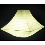 "14"" Light Yellow Pagoda Paper Lantern"