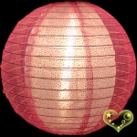 "12"" Glitter Sari Fabric Double Lantern -Hot Pink"