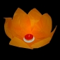 Orange Paper Lotus Floating Water Lantern