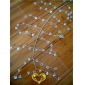 "42"" Clear Crystal stone cluster wired Garland"