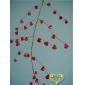 "42"" Red Crystal stone cluster wired Garland"