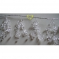 "42"" Crystal star cluster wired Garland"