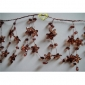 "42"" Coffe Crystal star cluster wired Garland"