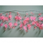 "42"" Pink Crystal star cluster wired Garland"