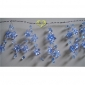 "42"" Turquoise Crystal star cluster wired Garland"
