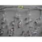 "55"" Clear Crystal ear Drops wired Garland"