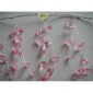 "55"" Pink Crystal ear Drops wired Garland"