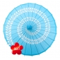 "32"" Paper & Bamboo Turquoise Swirl Parasols"