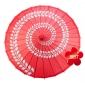 "32"" Paper & Bamboo Red Swirl Parasols"