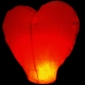 Heart Flying Sky Lanterns-Red