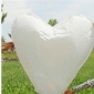 Heart Flying Sky Lanterns-White