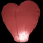 Heart Flying Sky Lanterns-Pink