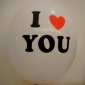 "12"" I love U Led Flash Light Up white Balloon (50 x 5 balloon)"