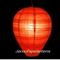 Egg Red Stripe Paper Lantern