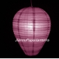Egg Rosy Brown Stripe Paper Lantern