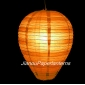 Egg Sandy Brown Stripe Paper Lantern