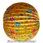"12"" Floral With yellow Accordion Paper Lanterns(150 of case)"