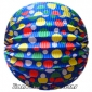 "12"" Multicolour Dot With Blue Accordion Paper Lanterns"