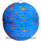 "12"" Colorful Dot With Blue Accordion Paper Lanterns"