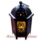 Arab Metal Palace Candle Lantern-Black