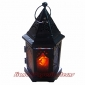 Arab Metal chapel Candle Lantern-Black