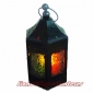 Hexagonal Metal Candle Lantern-Black