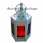 Hexagonal Metal Candle Lantern-White