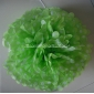 "12"" White Dot with Light Lime Tissue Paper Pom Poms -(4 pieces)"