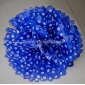 "12"" White Dot with Dark Blue Tissue Paper Pom Poms -(4 pieces)"