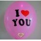 "12"" I love U Led Flash Light Up Balloon (5 Balloons)-Pink"