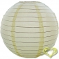 8 Inch Even Ribbing Ivory Paper Lanterns