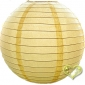 12 Inch Even Ribbing Light Yellow Paper Lanterns