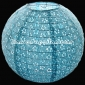 "14"" Eyelet Paper Lanterns-Light Blue"