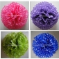 "14"" White Dot Color Pom Poms wholesale- (360 of case)"
