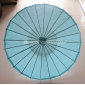 "Wholesale 32"" Water Blue Paper Parasol (100 of box)"