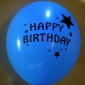 "12"" Happy Birthday Led Flash Light Up Balloon (50 x 5 balloon)"
