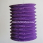 Purple Cylinder Accordion Paper Lanterns