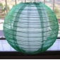 "12"" Green Sari Fabric double lanterns"