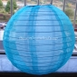 "12"" Turquoise Sari Fabric double lanterns"