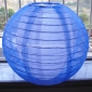 "12"" Dark Blue Sari Fabric double lanterns"