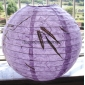 "12""&16""Light Purple handmade paper lantern"